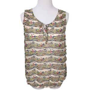 Banana Republic Factory Sleeveless Townscape Top